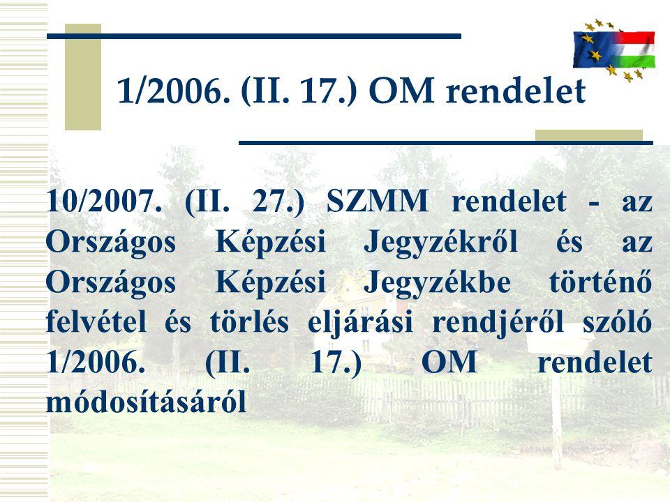 1/2006. (II. 17.) OM rendelet