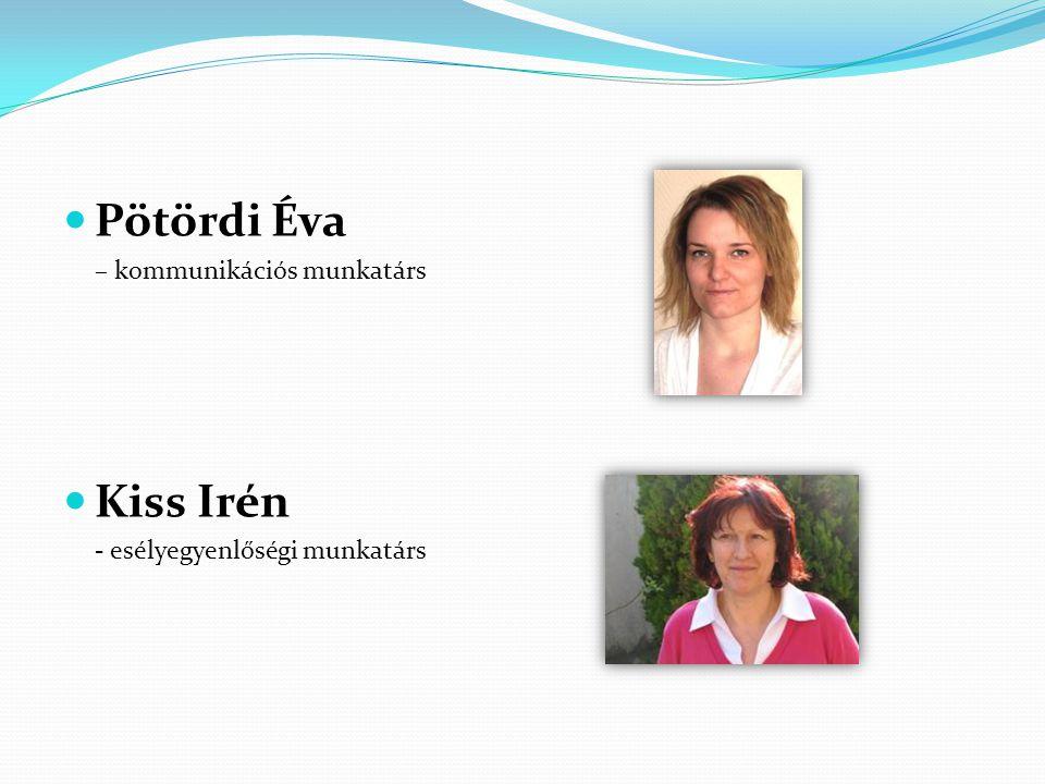 Pötördi Éva Kiss Irén – kommunikációs munkatárs
