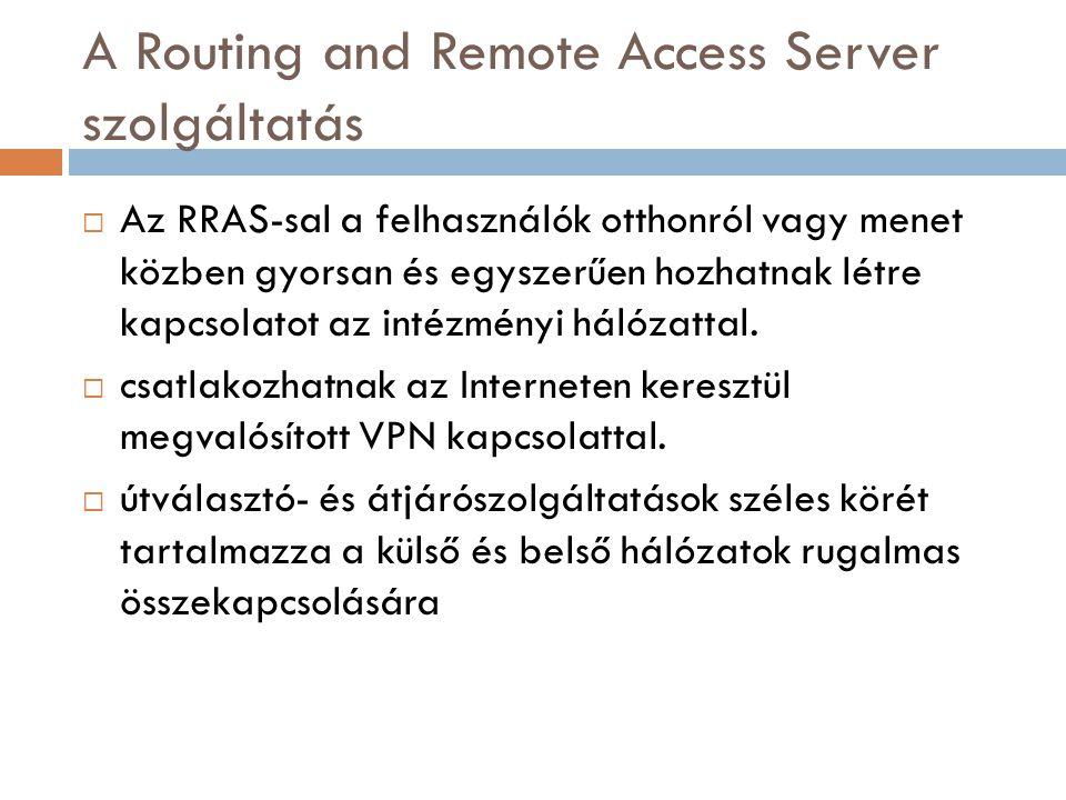 A Routing and Remote Access Server szolgáltatás