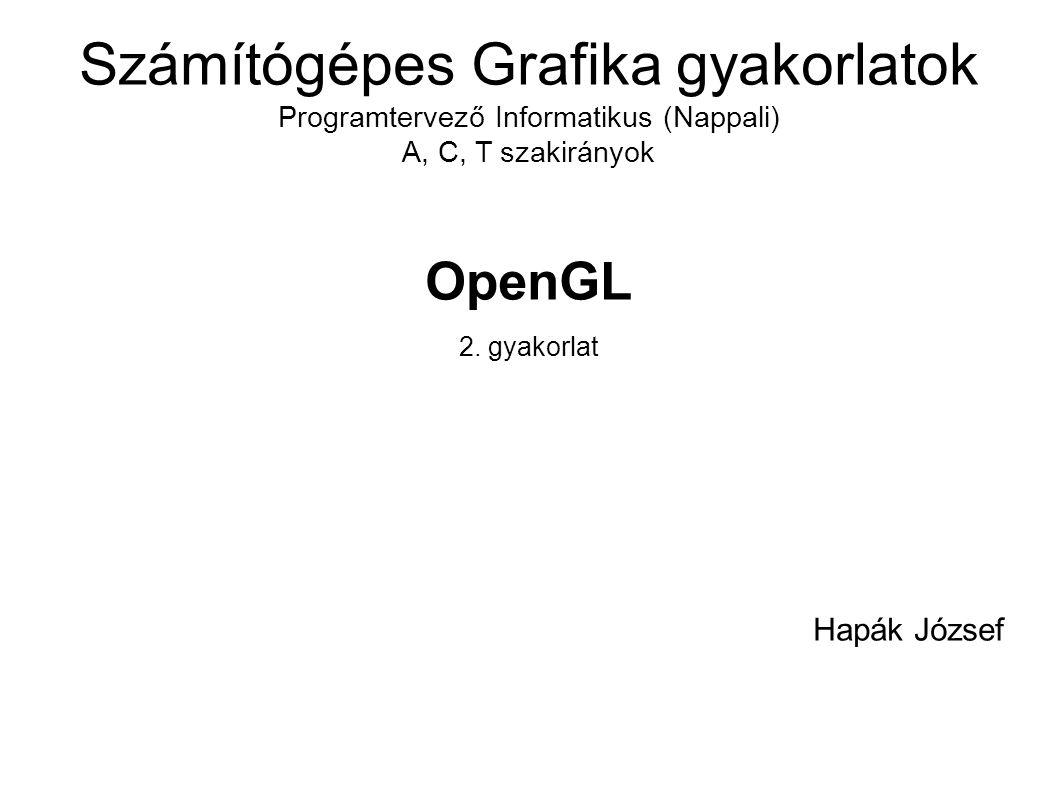 OpenGL 2. gyakorlat Hapák József