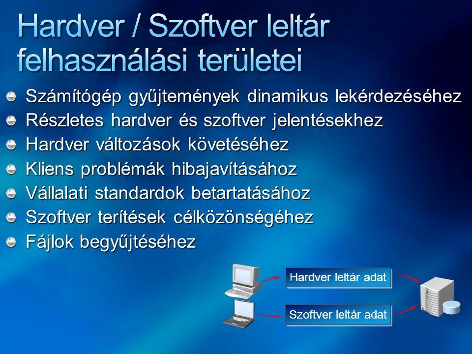 Hardver / Szoftver leltár felhasználási területei