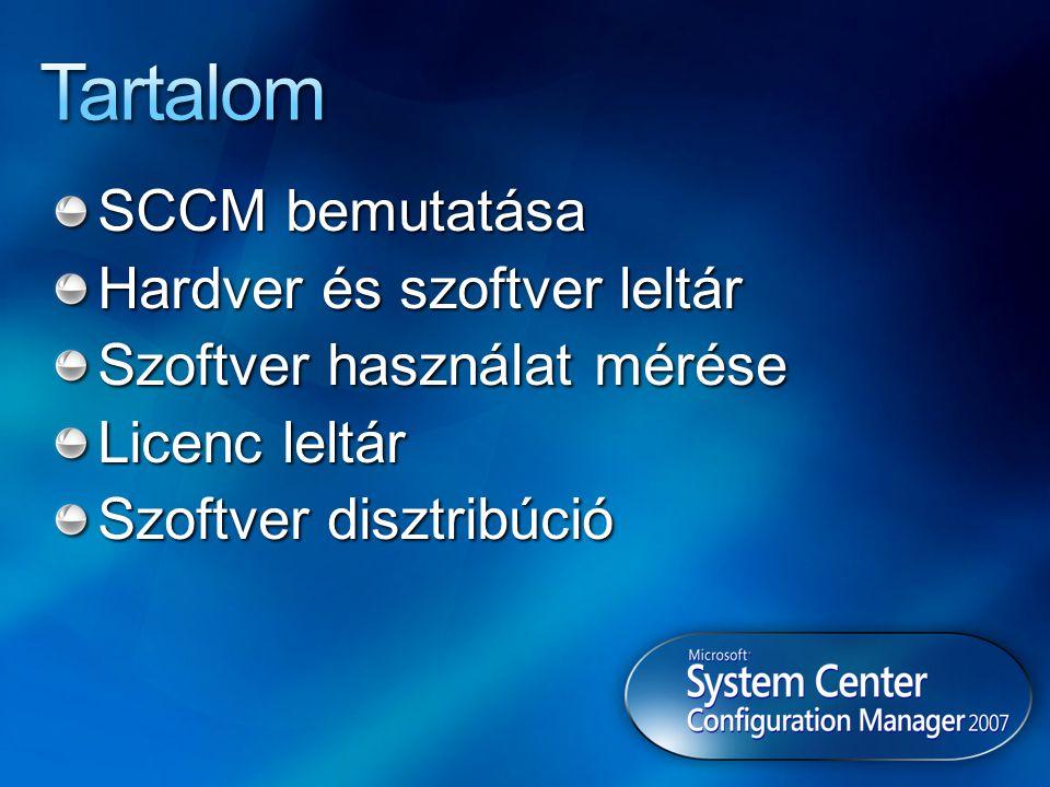 Tartalom SCCM bemutatása Hardver és szoftver leltár