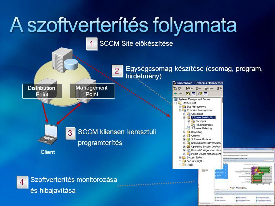 A szoftverterítés folyamata