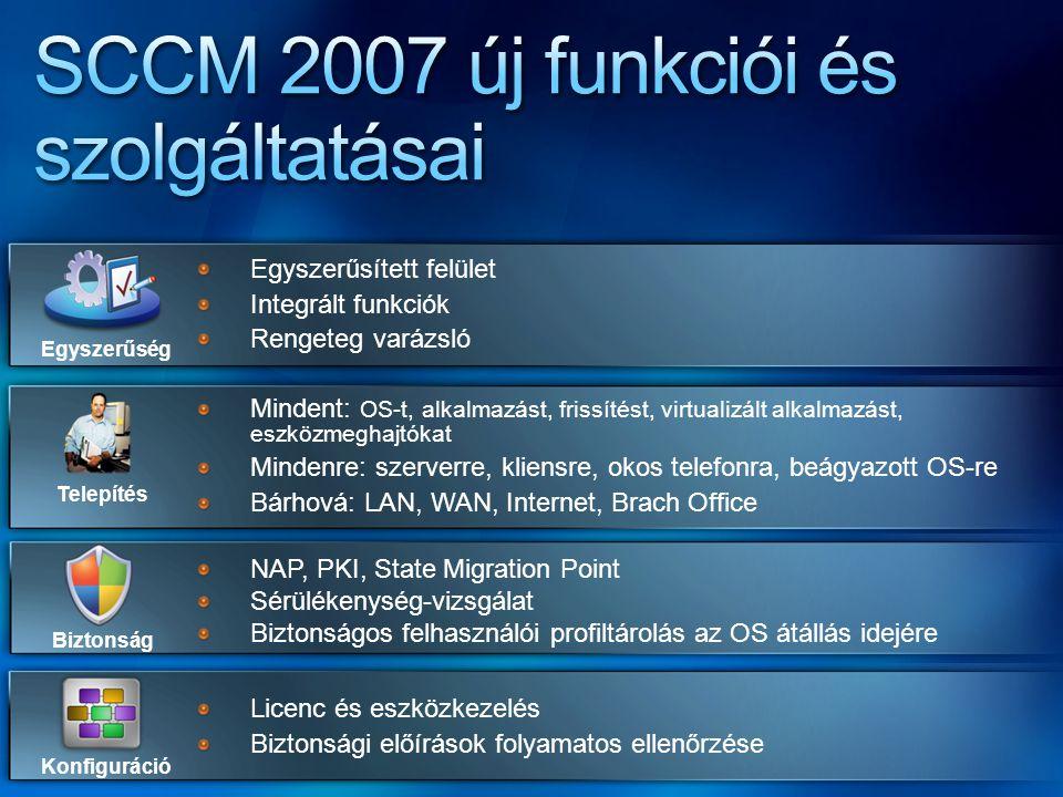 SCCM 2007 új funkciói és szolgáltatásai