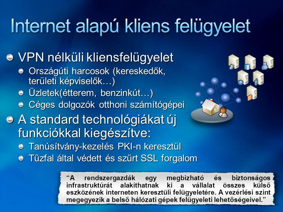 Internet alapú kliens felügyelet