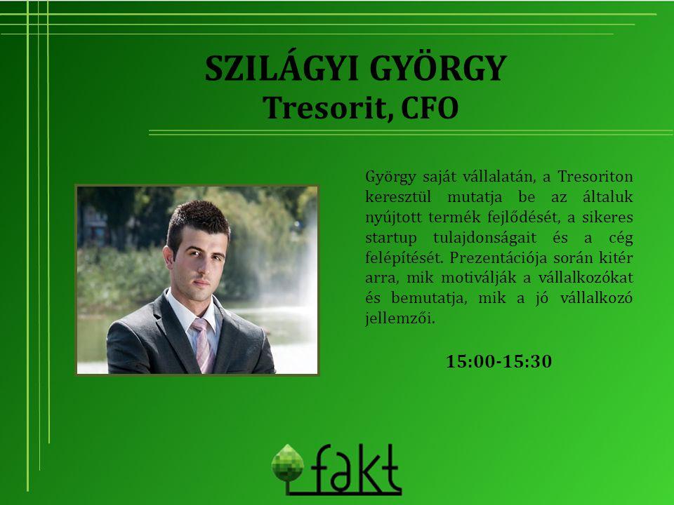Szilágyi György Tresorit, CFO 15:00-15:30