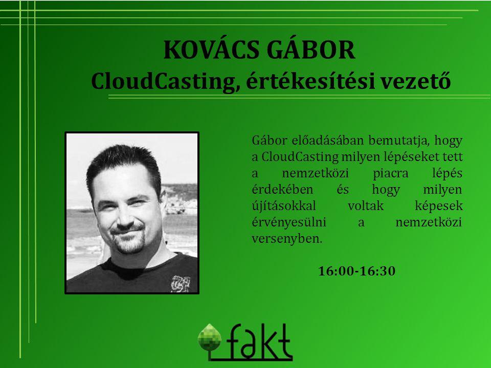 CloudCasting, értékesítési vezető