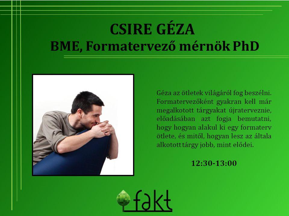BME, Formatervező mérnök PhD