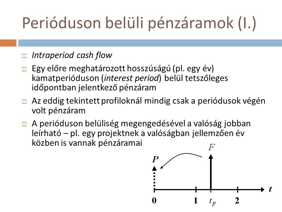 Perióduson belüli pénzáramok (I.)