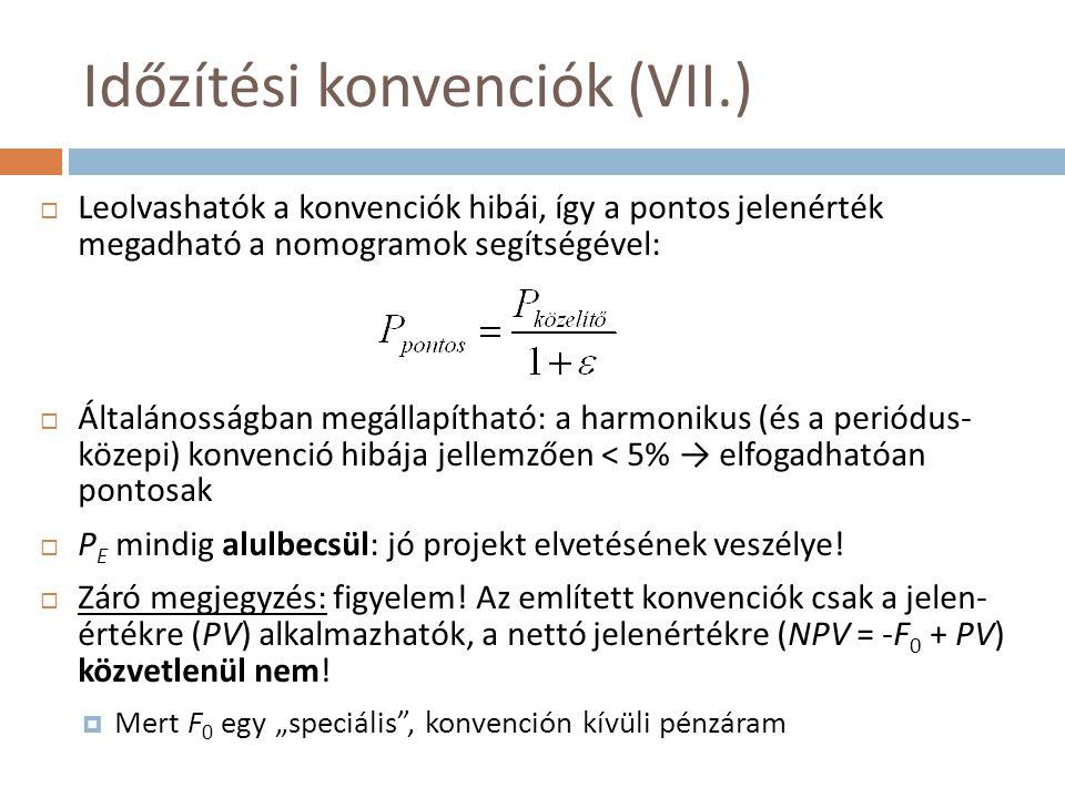 Időzítési konvenciók (VII.)