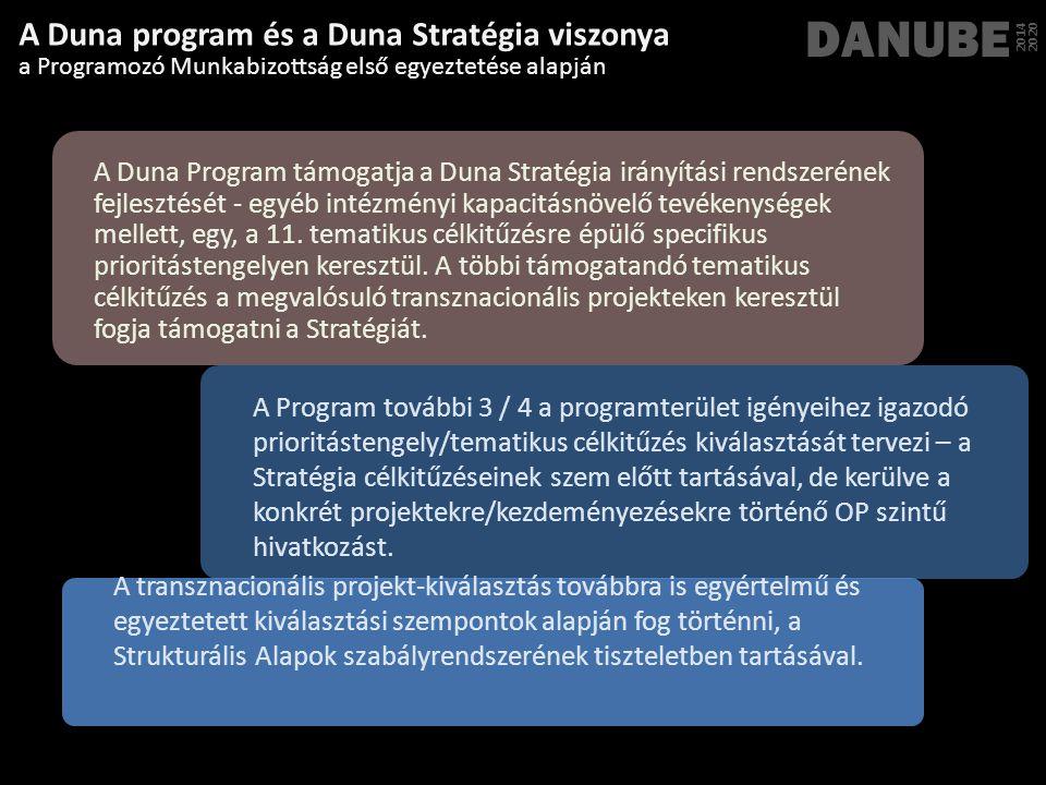 DANUBE A Duna program és a Duna Stratégia viszonya