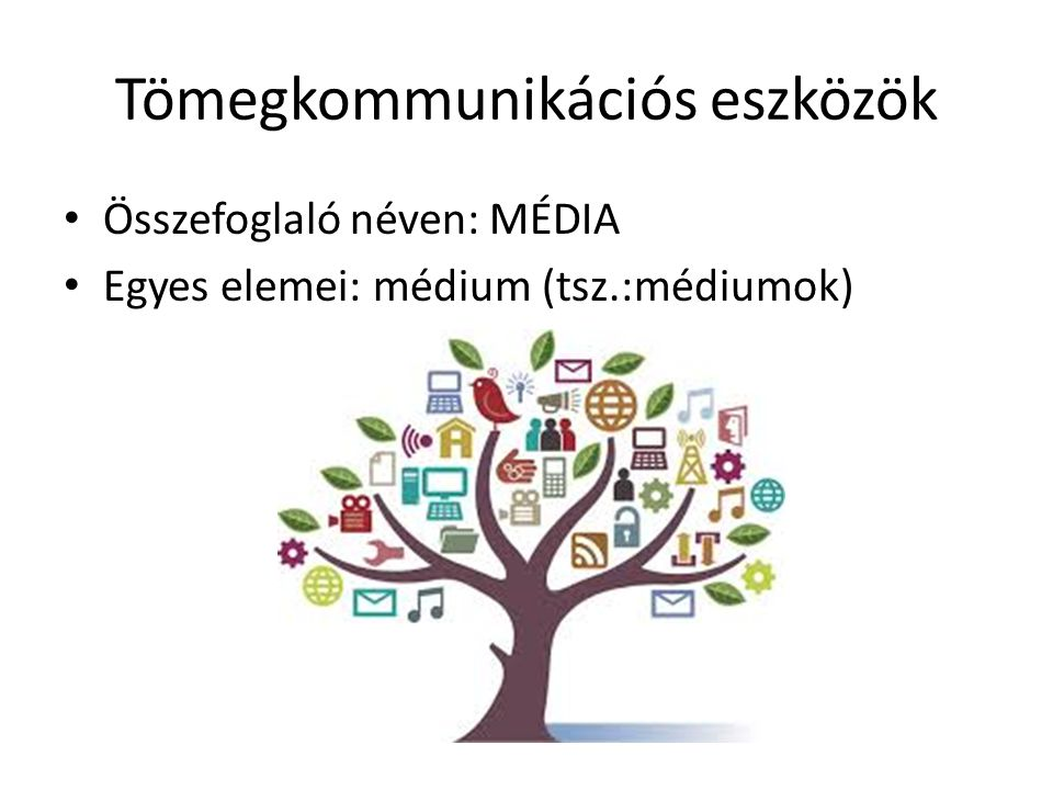 Tömegkommunikációs eszközök