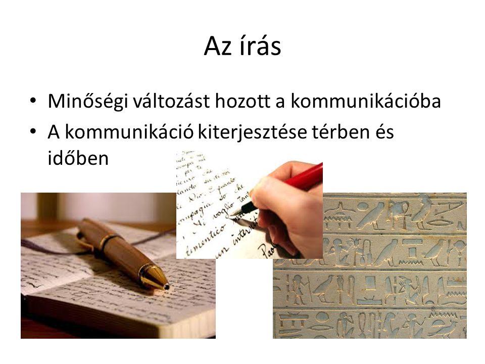 Az írás Minőségi változást hozott a kommunikációba