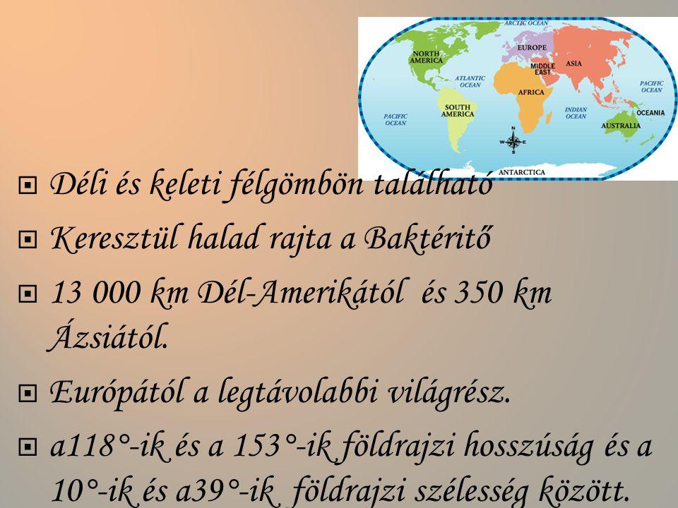 Déli és keleti félgömbön található