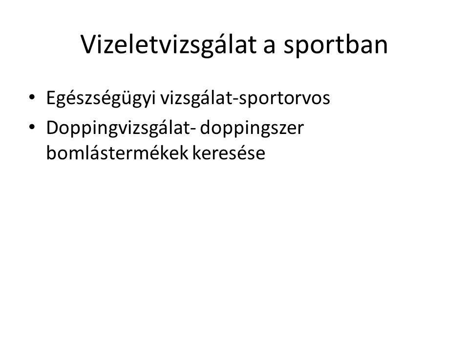 Vizeletvizsgálat a sportban