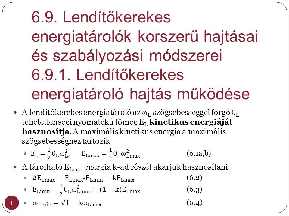 6.9. Lendítőkerekes energiatárolók korszerű hajtásai és szabályozási módszerei 6.9.1. Lendítőkerekes energiatároló hajtás működése