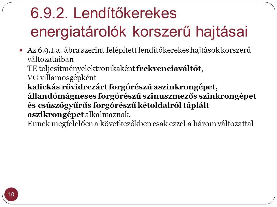 6.9.2. Lendítőkerekes energiatárolók korszerű hajtásai