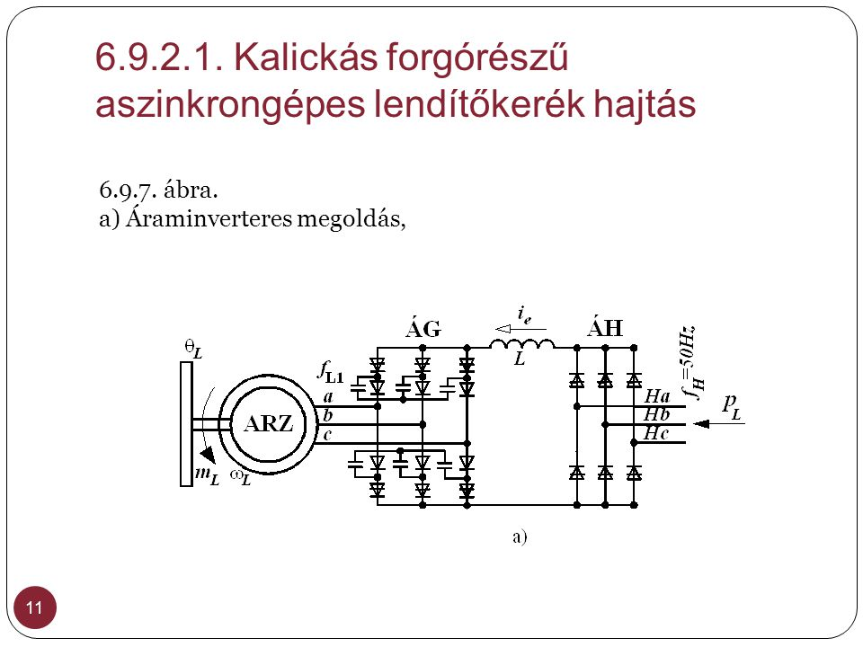 6.9.2.1. Kalickás forgórészű aszinkrongépes lendítőkerék hajtás