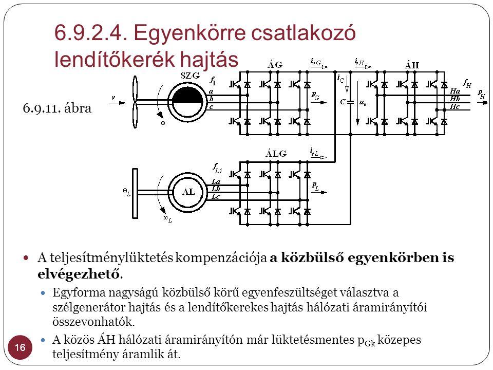 6.9.2.4. Egyenkörre csatlakozó lendítőkerék hajtás
