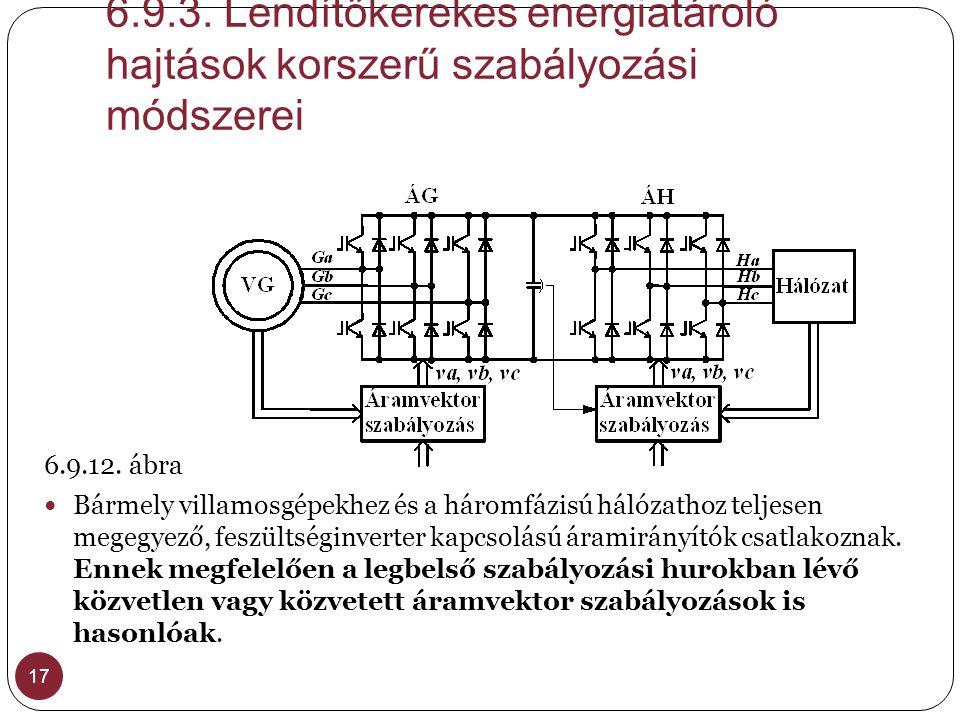 6.9.3. Lendítőkerekes energiatároló hajtások korszerű szabályozási módszerei