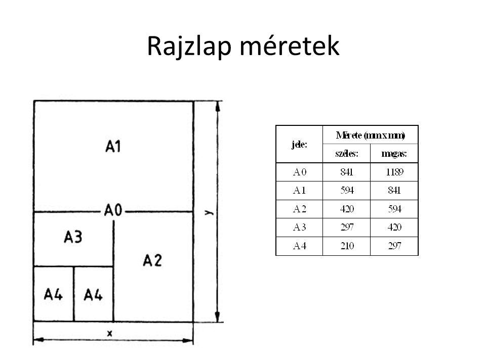 Rajzlap méretek