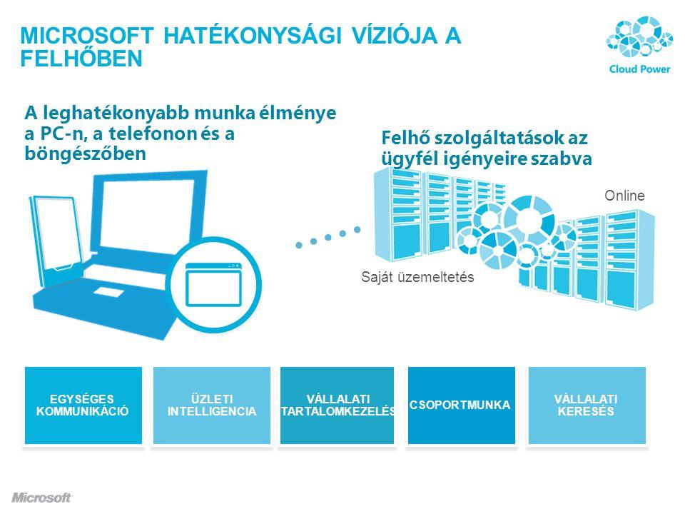 Microsoft HATÉKONYSÁGI VÍZIÓJA A FELHŐBEN