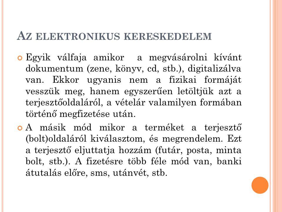 Az elektronikus kereskedelem
