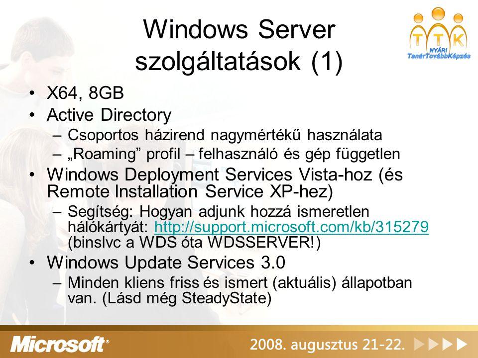 Windows Server szolgáltatások (1)