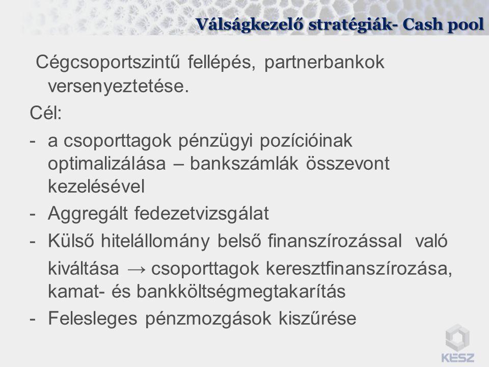 Válságkezelő stratégiák- Cash pool
