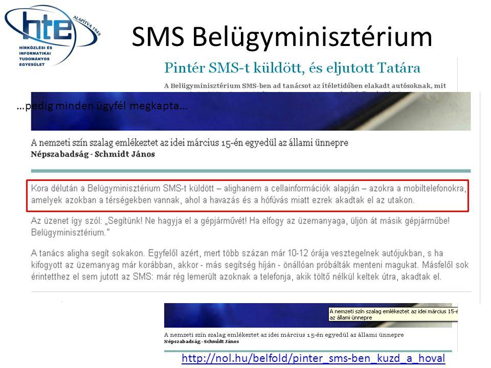 SMS Belügyminisztérium