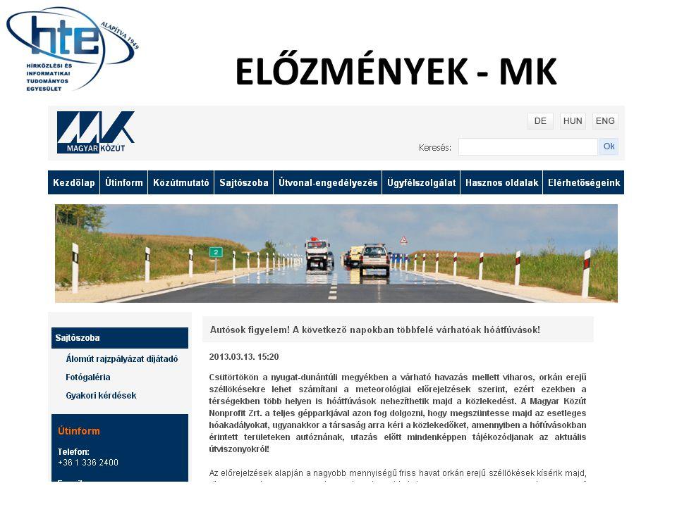 ELŐZMÉNYEK - MK