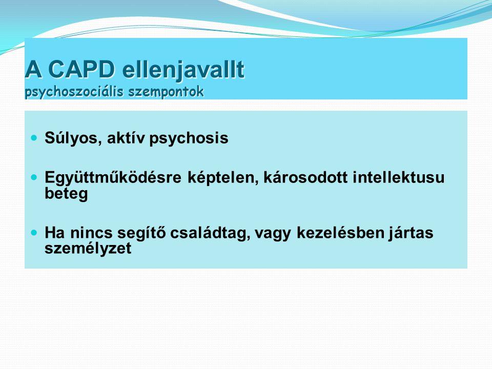 A CAPD ellenjavallt psychoszociális szempontok