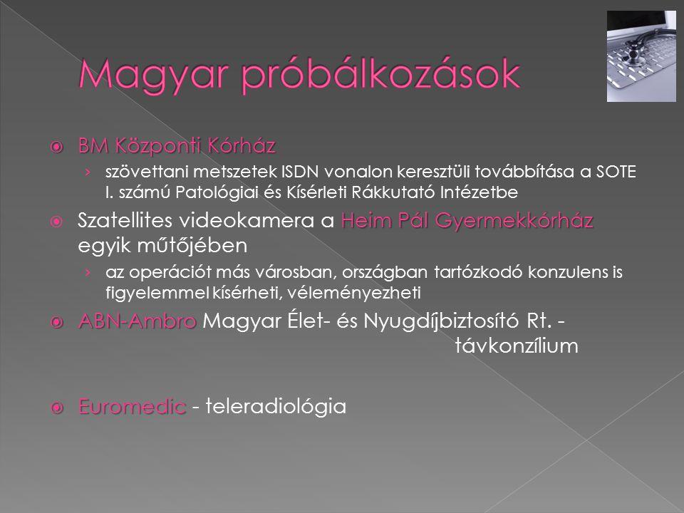 Magyar próbálkozások BM Központi Kórház