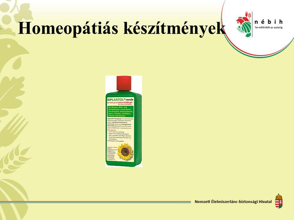Homeopátiás készítmények