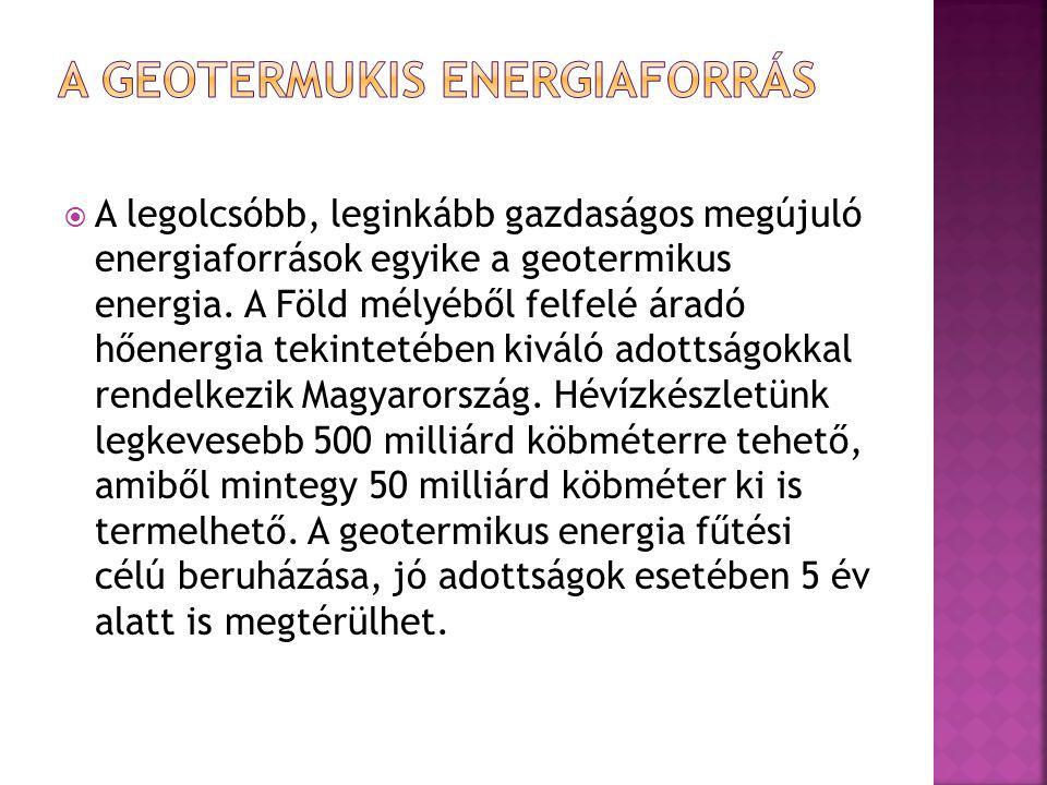 A geotermukis energiaforrás