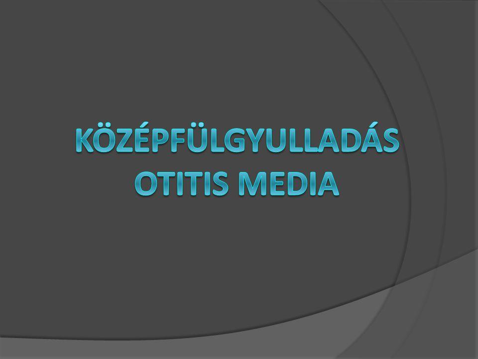 KÖZÉPFÜLGYULLADÁS OTITIS MEDIA