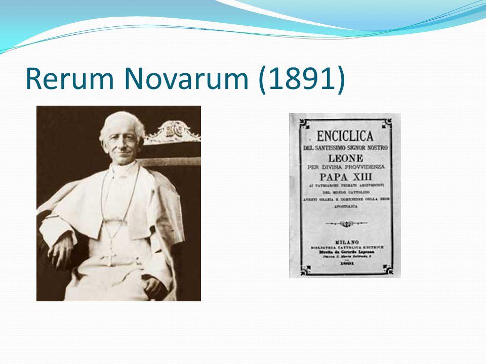 Rerum Novarum (1891)