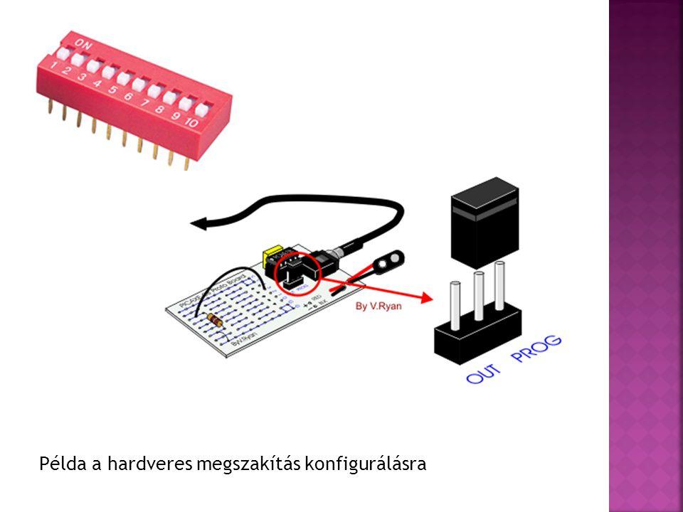 Példa a hardveres megszakítás konfigurálásra