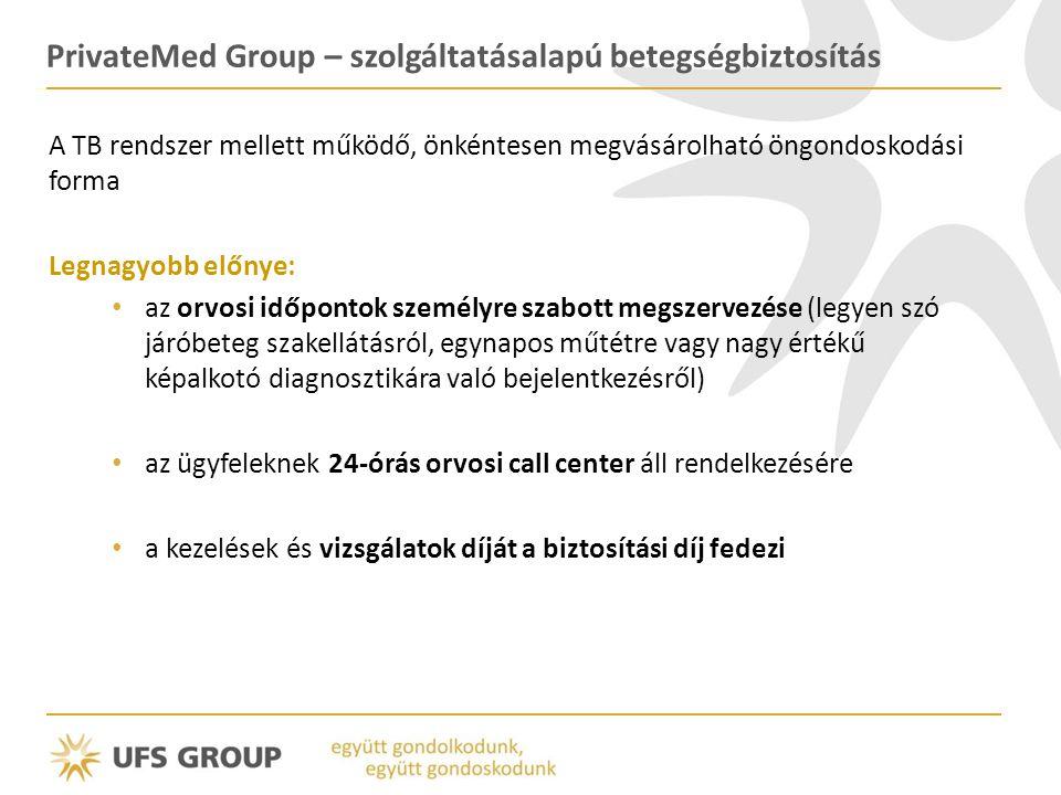 PrivateMed Group – szolgáltatásalapú betegségbiztosítás