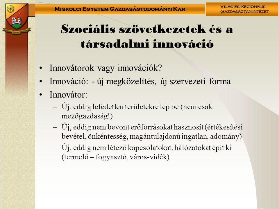 Szociális szövetkezetek és a társadalmi innováció