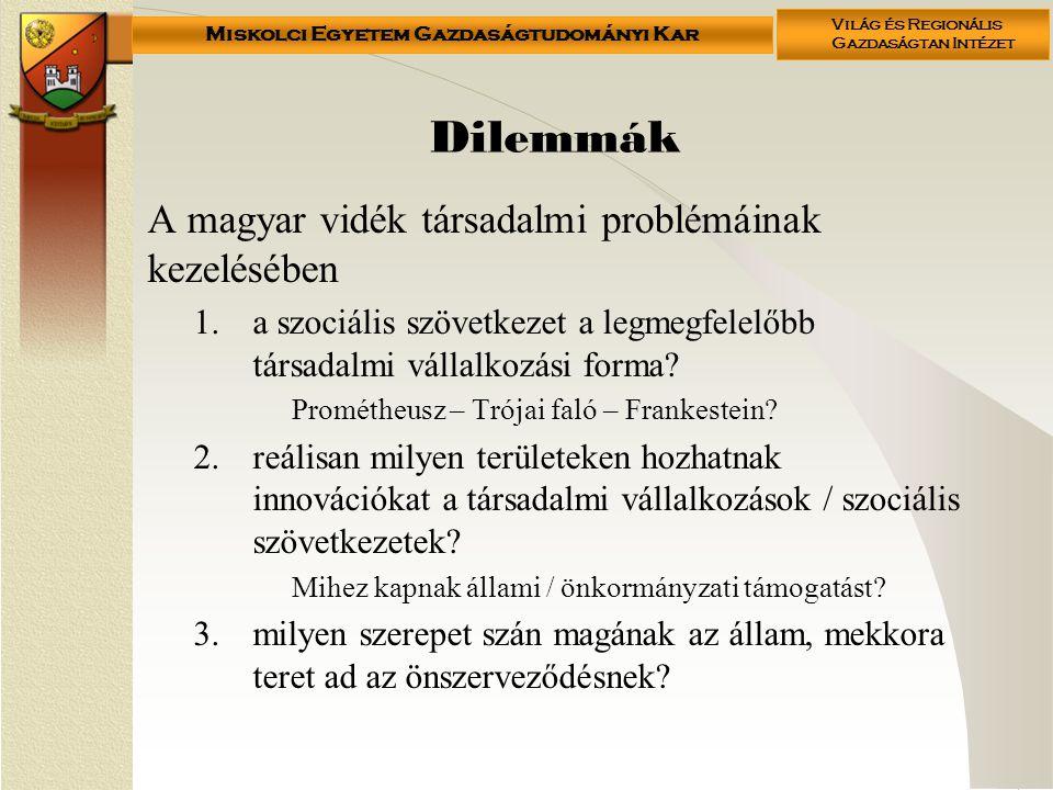 Dilemmák A magyar vidék társadalmi problémáinak kezelésében