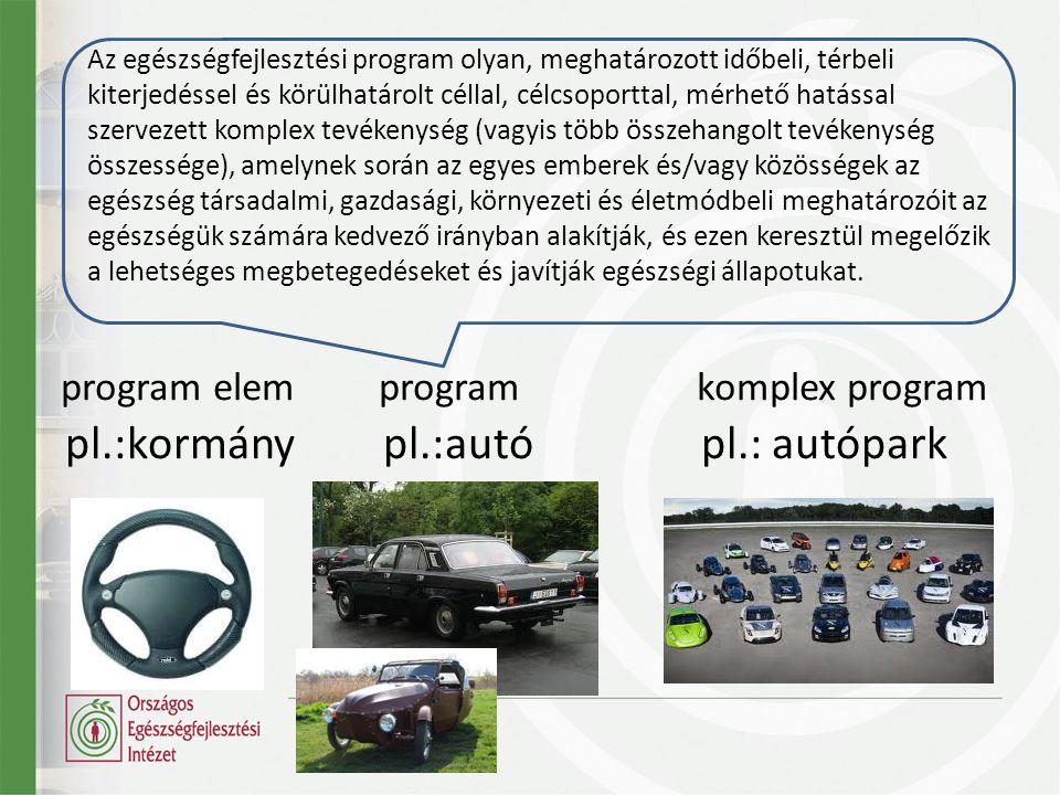 pl.:kormány pl.:autó pl.: autópark