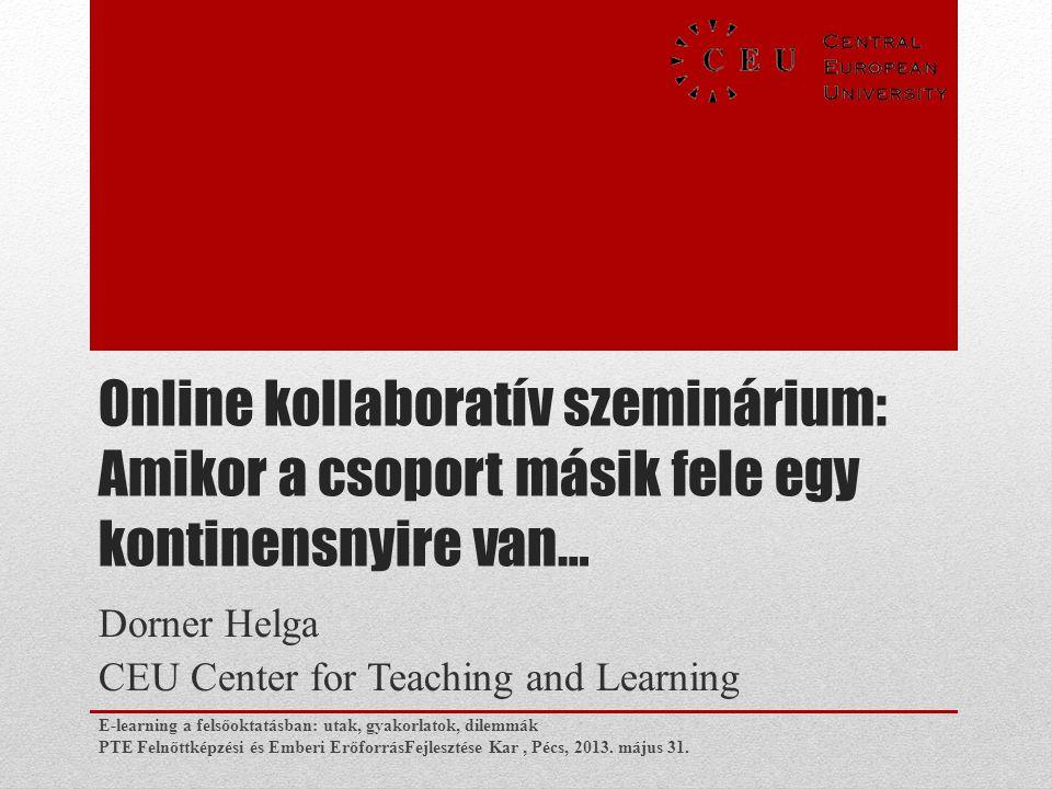 Dorner Helga CEU Center for Teaching and Learning