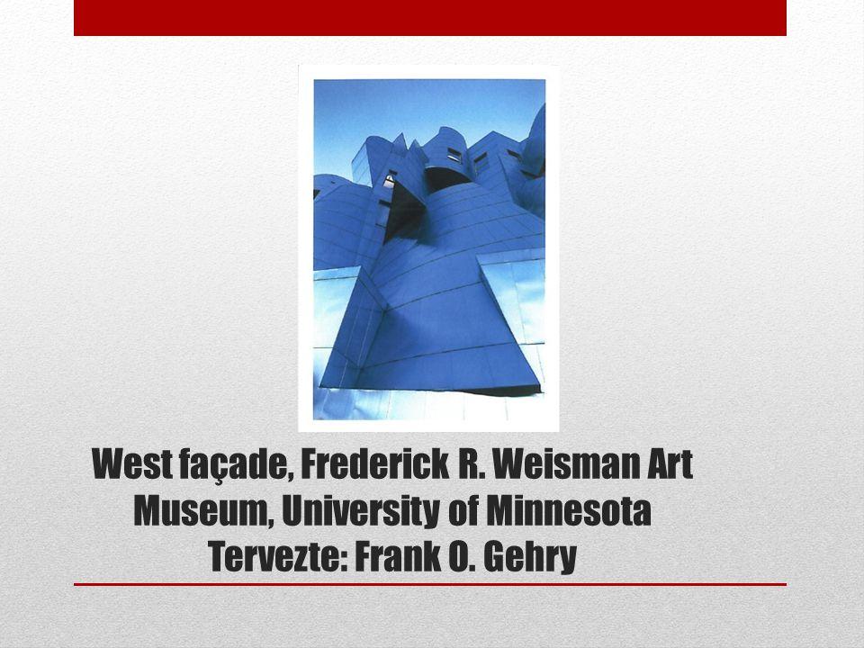 West façade, Frederick R