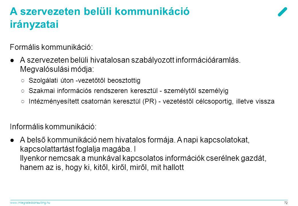 A szervezeten belüli kommunikáció irányzatai