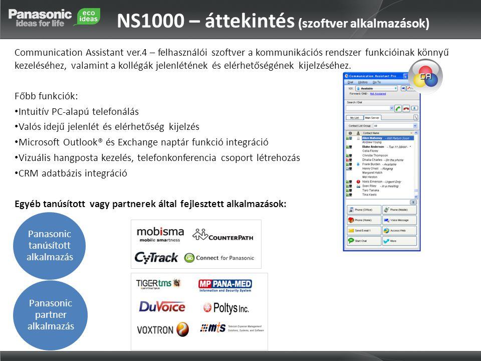 NS1000 – áttekintés (szoftver alkalmazások)