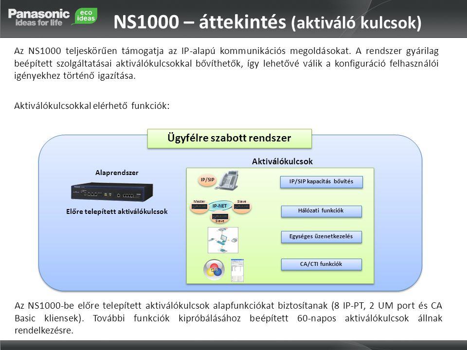 NS1000 – áttekintés (aktiváló kulcsok)