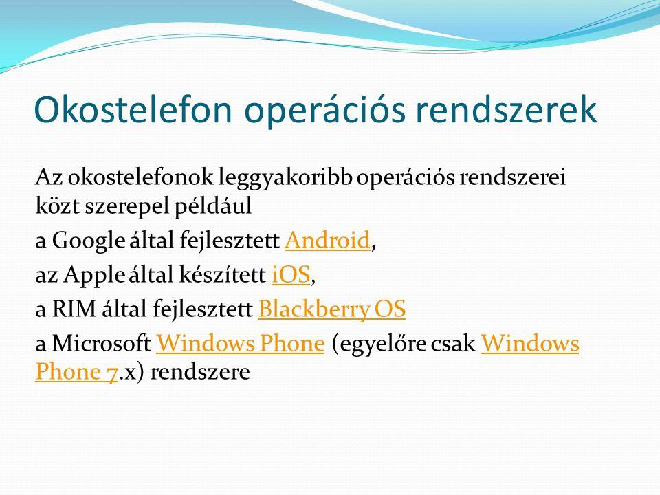 Okostelefon operációs rendszerek