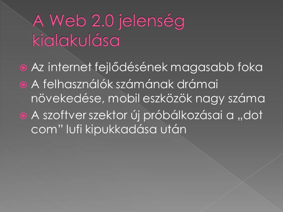 A Web 2.0 jelenség kialakulása