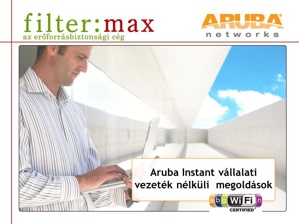 Aruba Instant vállalati vezeték nélküli megoldások